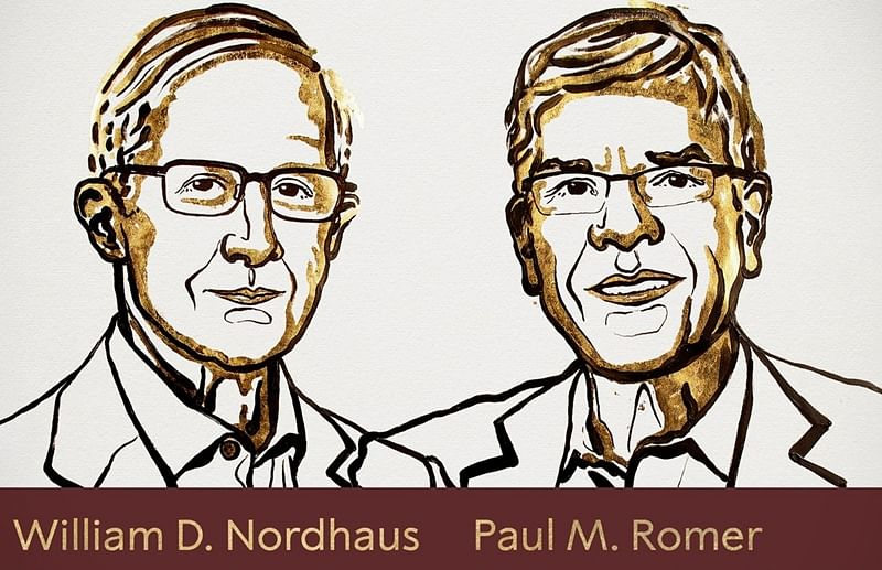Nobel Prize in Economic Sciences awarded to William Nordhaus and Paul Romer
