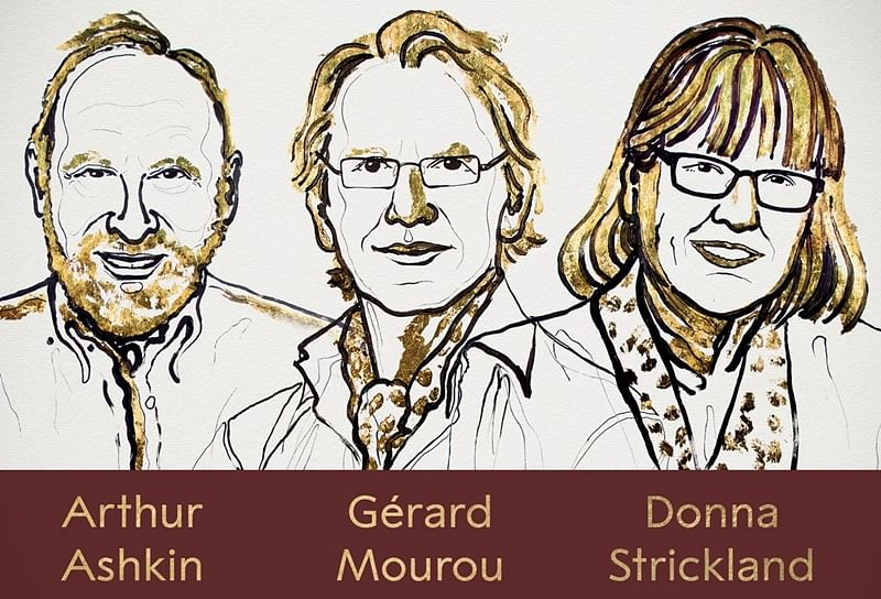 Nobel prize in physics awarded to Arthur Ashken, Gerard Mourou and Donna Strickland