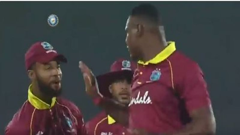 India vs West Indies 1st ODI: Oshane Thomas slaps teammate after dismissing Shikhar Dhawan, watch video