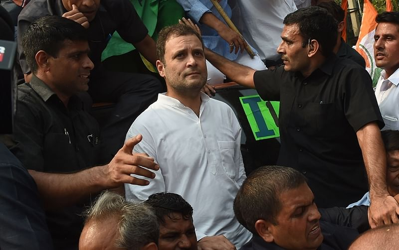 CBI vs CBI: Congress begins outside CBI offices across nation, Rahul Gandhi leads march in Delhi