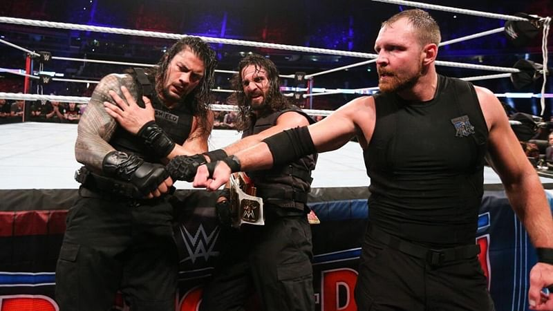 From Left- Roman Reigns, Seth Rollins and Dean Ambrose.  Photo- Roman Reigns/Twitter