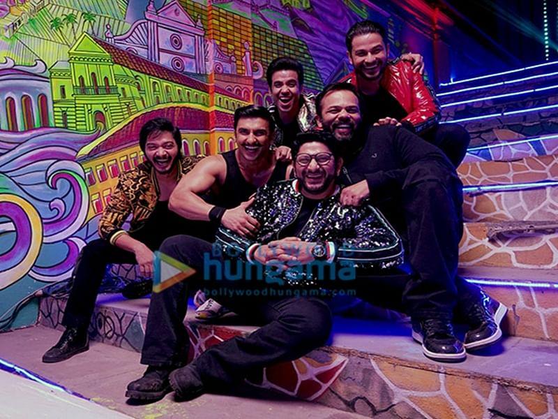 When 'Simmba' stars Ranveer Singh, Sara Ali Khan shot peppy number with 'Golmaal' gang Tusshar, Arshad Warsi, Shreyas Talpade and Kunal Kemmu; see pics