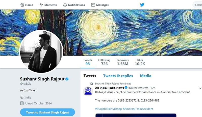 Sushant Singh Rajput gets his 'Blue Tick' back on Twitter!