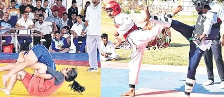 Wrestling, Jeet Kune Do contests conclude