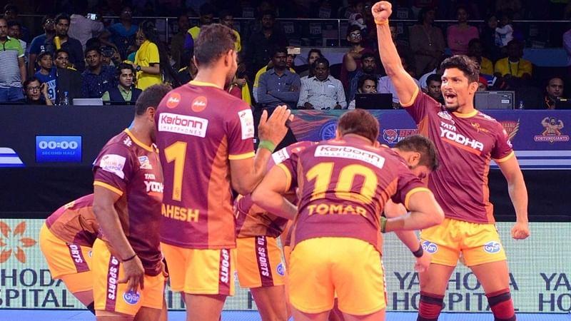 PKL 2018: UP Yoddhas thrash Dabang Delhi 45-33, to face Gujarat Fortunegiants for final spot