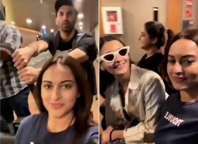 Kalank stars Alia Bhatt, Aditya Roy Kapur and Sonakshi Sinha make airport travelling more fun; Watch video