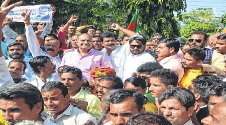 Bhopal: BJP coordinator's son shows might for ticket