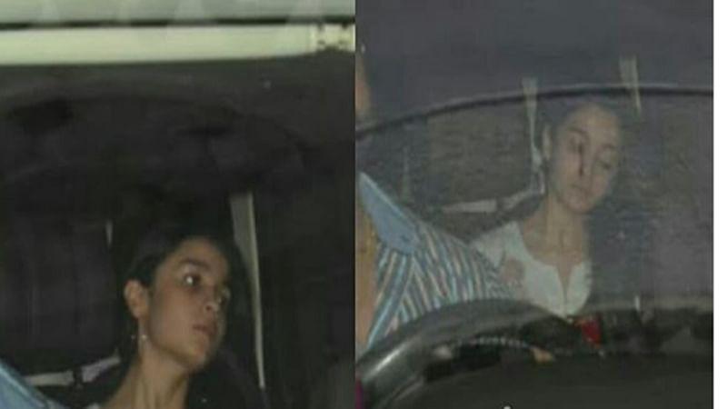 Post Ranbir Kapoor's birthday Alia Bhatt heads to Karan Johar's place for dinner; see pics