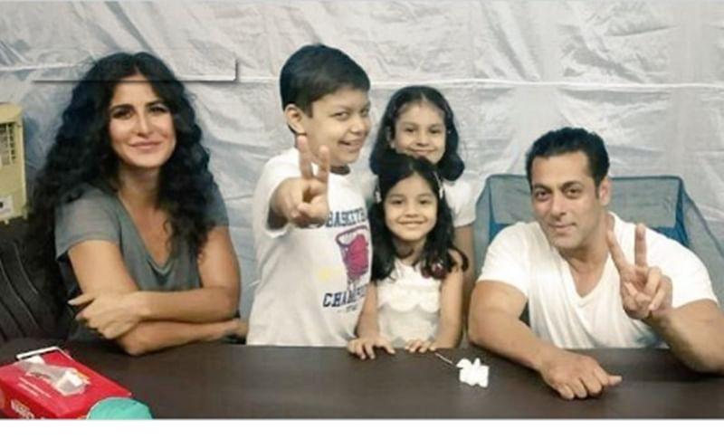 'Bharat' stars Salman Khan and Katrina Kaif make time for their 'little fans'; see pic