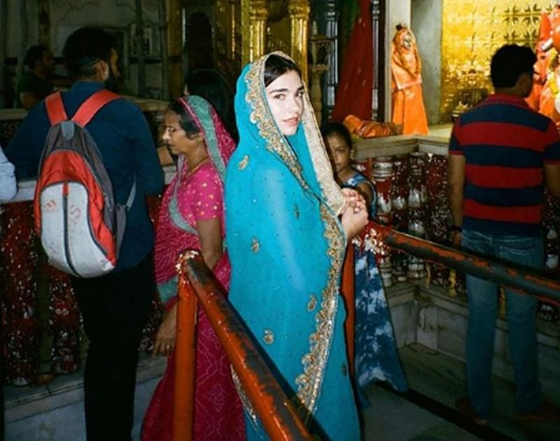'New Rules' singer Dua Lipa in a saree is smitten by Indian culture; see pic
