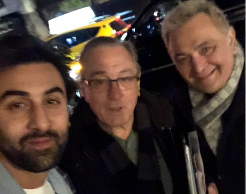 Chintu meets Godfather! Rishi Kapoor is all smiles after getting clicked with Robert De Niro