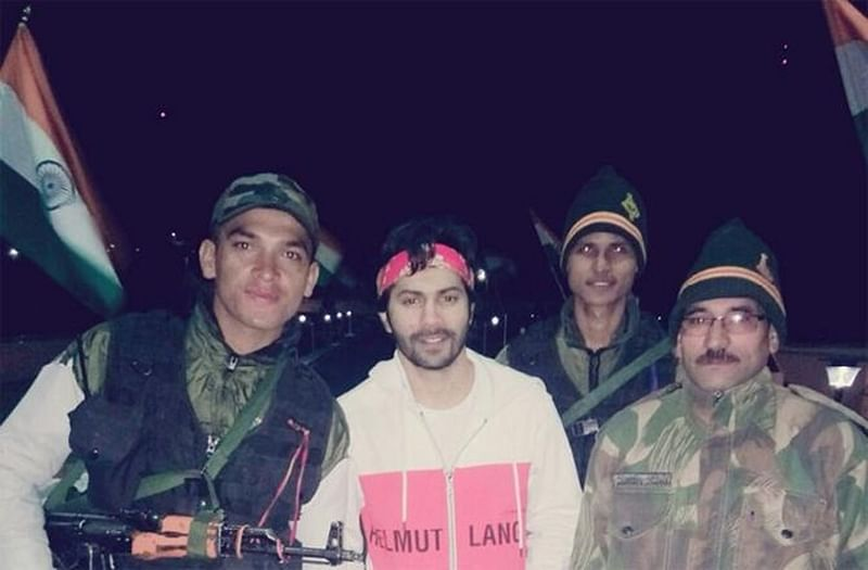 Varun Dhawan meets Indian Jawans at Kargil War Memorial