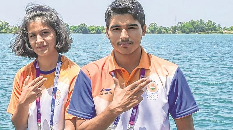 Asian Airgun Championships : Manu Bhaker and Saurabh Chaudhary clinch mixed event gold medal