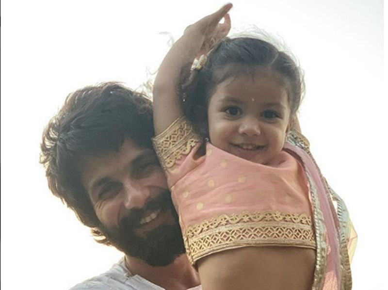 Shahid Kapoor's daughter Misha looks super adorable in her little pink traditional lehenga on Diwali