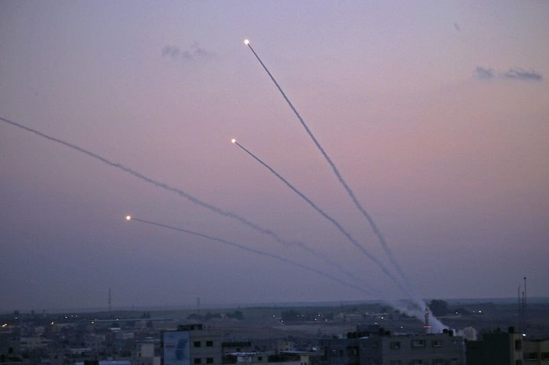 300 rockets fired from Gaza Strip towards Israel leaves 11 injured