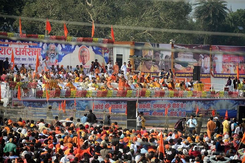 Ram temple at Kumbh mela draws crowds