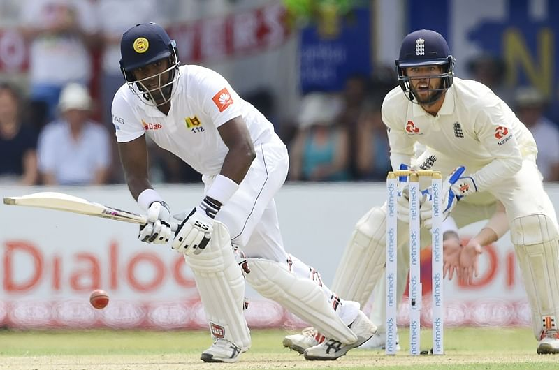 Sri Lanka vs England 1st Test Day 2: Angelo Mathews hits 50 to slow England's momentum, Sri Lanka 136-5 at tea