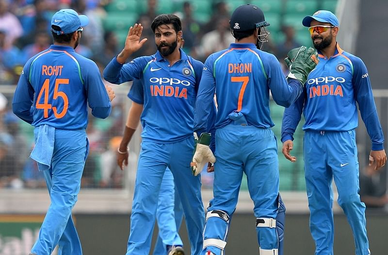 India vs West Indies 5th ODI: West Indies all out for 104, Jadeja picks 4
