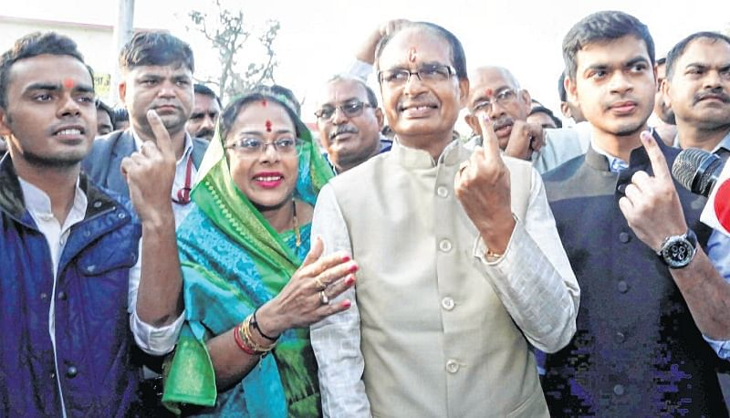 Madhya Pradesh Assembly Polls 2018: CM Shivraj Singh Chouhan, kin cast vote