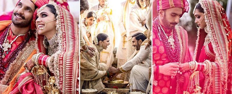Unseen Pictures! Deepika-Ranveer treat fans with wedding moments