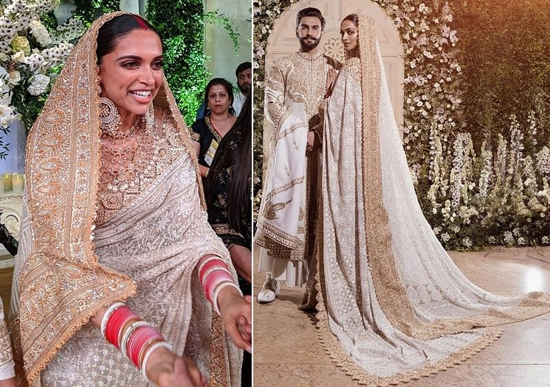 Watch Video: It took 16,000 man-hours to create Deepika Padukone's ivory and gold ensemble from her Mumbai reception, says designer