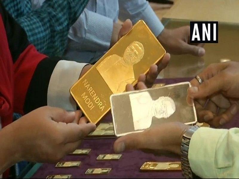 Gold bars with PM Narendra Modi's imprints a hit in Gujarat jewellery shop