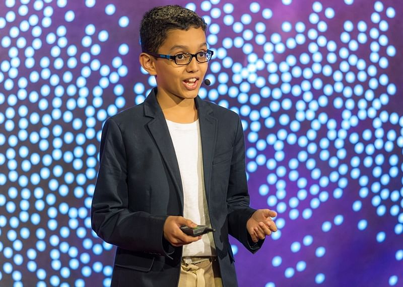Haaziq Kazi speaks at TED-Ed Weekend – June 17, 2017, TED HQ, New York, NY. Photo: Ryan Lash/TED