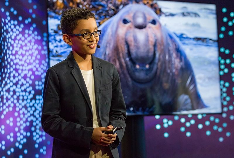 Haaziq Kazi speaks at TED-Ed Weekend - June 17, 2017, TED HQ, New York, NY. Photo: Ryan Lash/TED