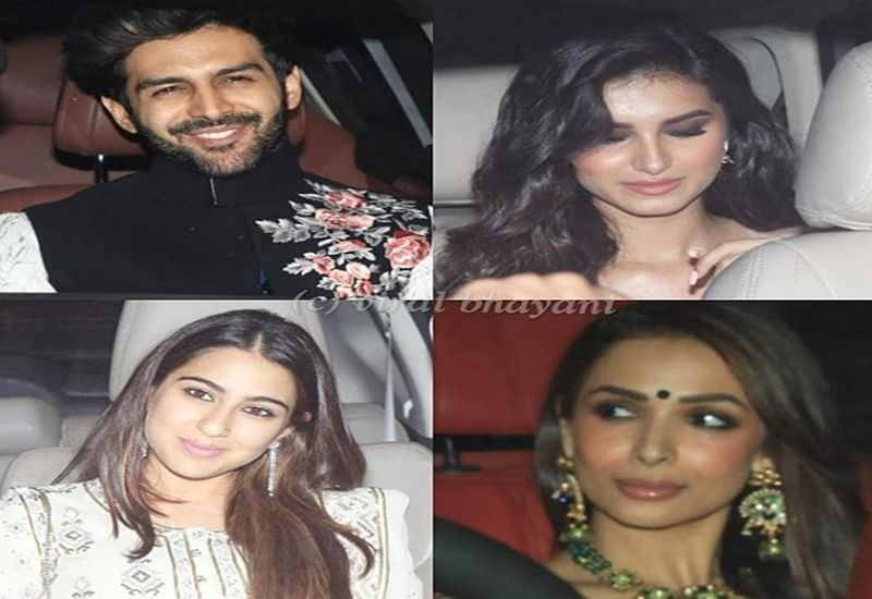 Karan Johar Diwali Bash: Kartik Aaryan, Malaika Arora, Sara Ali Khan and others attend KJo's festive gala; see pics