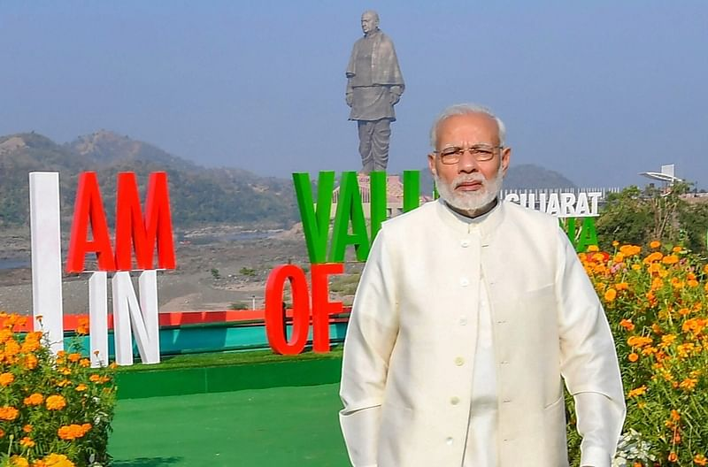 Is that bird dropping? Divya Spandana mocks PM Modi's photo at 'Statue of Unity', BJP calls it 'arrogance'