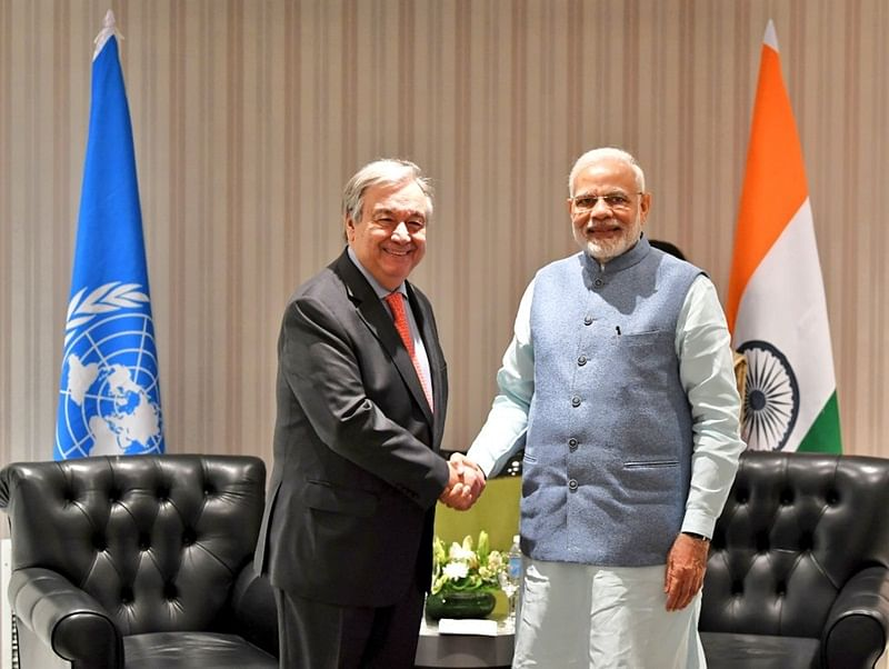 G20 Summit: PM Modi meets UN Secretary General Antonio Guterres, discusses India's role in addressing climate change