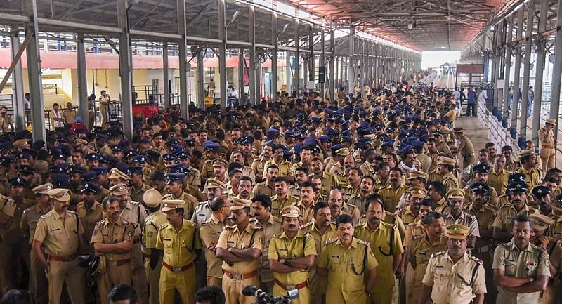 Sabarimala row: 237 people detained by police in connection with violence at Kannur, Pathanamthitta