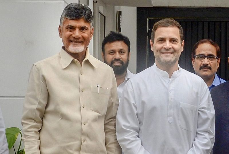 Will work together to ensure the attack on democratic institutions stops: Rahul Gandhi after meeting Chandrababu Naidu