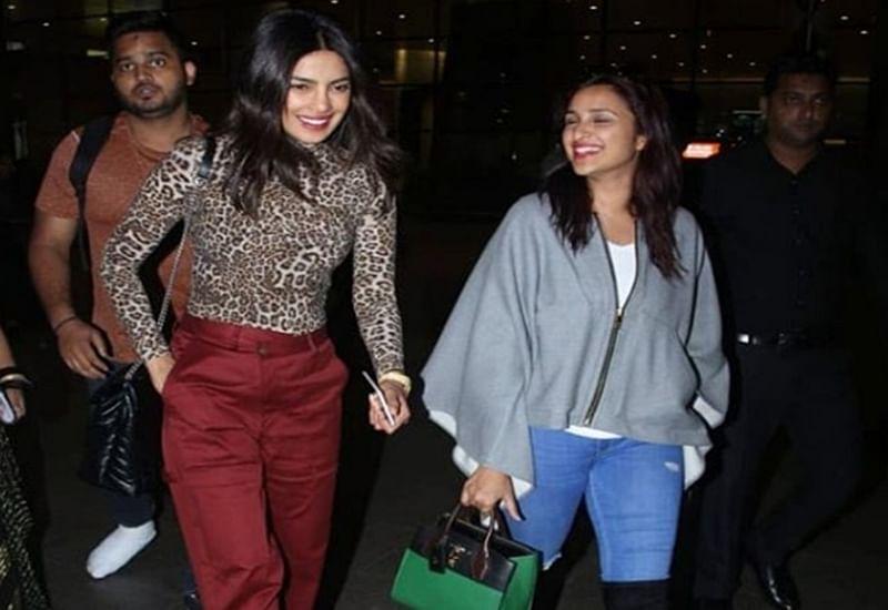 Post bachelorette, Priyanka Chopra arrives in Mumbai with sister Parineeti Chopra; see pics
