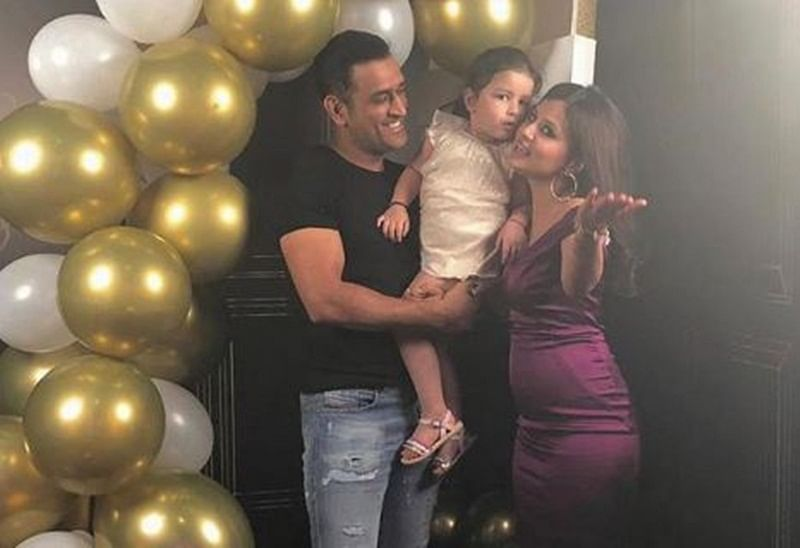 Sakshi Dhoni stuns in purple at birthday bash, MS Dhoni, Hardik join celebrations; See pics and video