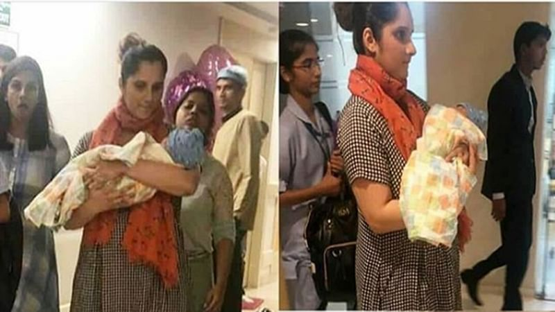 In Pics! Sania Mirza clicked leaving hospital with her newborn baby boy Izhaan Mirza Malik