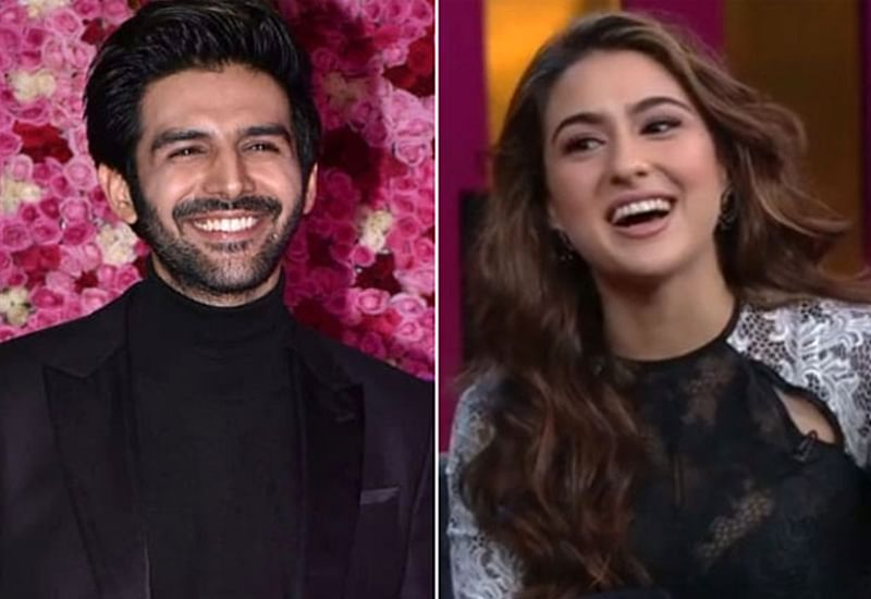 Kartik Aaryan's reaction on Sara Ali Khan's confession of dating him will make you blush; watch video
