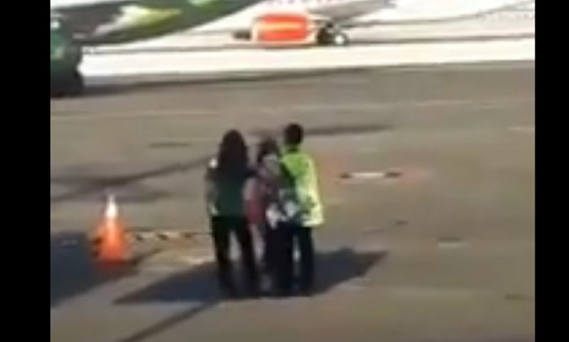 Mission Impossible! Woman tries to chase down Bali flight in most dramatic way; watch video