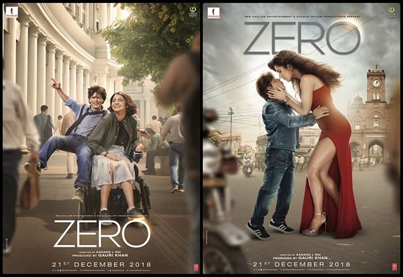 ZERO Posters: SRK as Bauua Singh recreates 'Jab Tak Hai Jaan' chemistry with Anushka and Katrina, with a twist