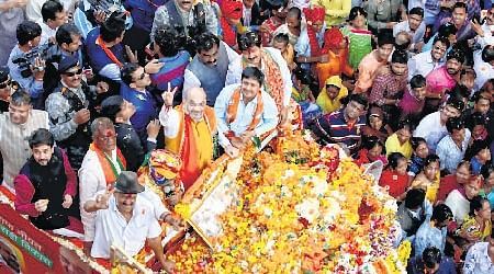 Indore: Amit Shah of strategies makes last-ditch bid to woo voters