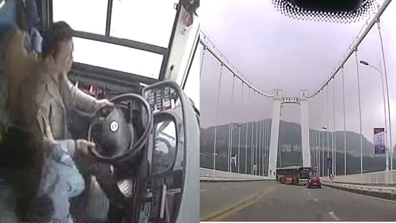 Fight between driver and woman passenger causes bus to plunge into China River, killing at least 13 people