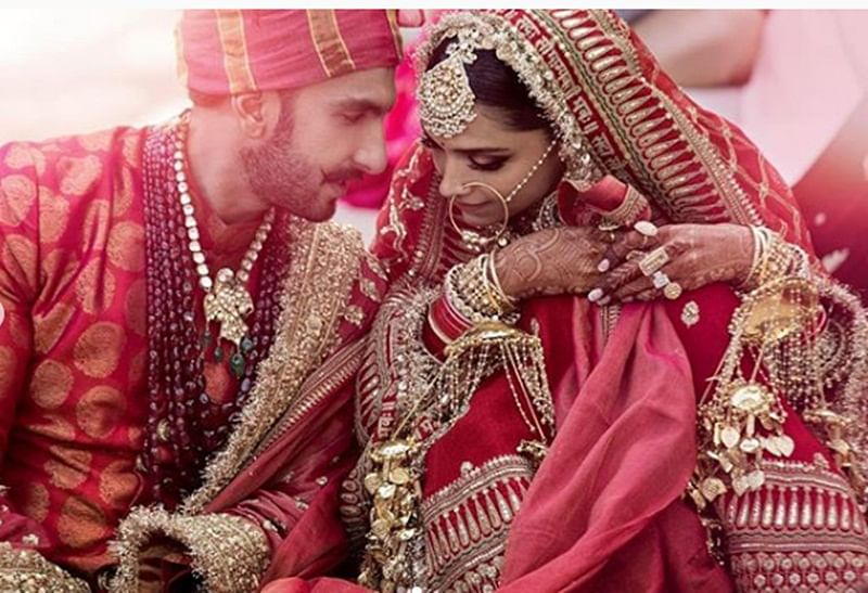Deepika Padukone and Ranveer Singh's first wedding picture is out; and they look made for each other