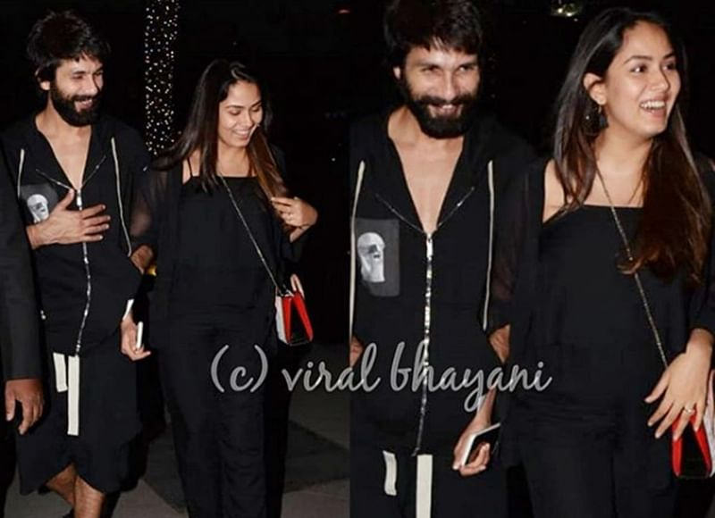 Shahid Kapoor and Mira Kapoor are all smiles as they dine out with friends