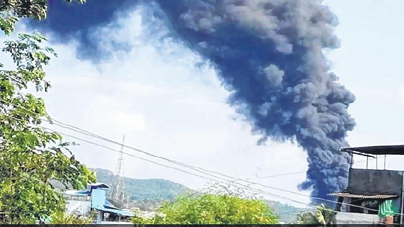 Mumbai: Massive fire guts Ambarnath's chemical factory, four injured