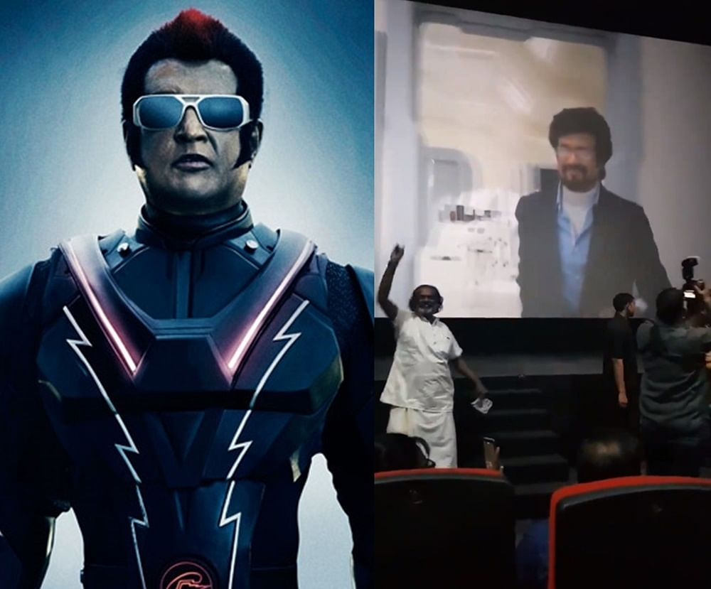 Rajinikanth fans pause '2.0' for 3 minutes to celebrate superstar's first look!