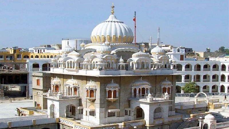 Sikh pilgrims gather at Gurdwara Punja Sahib in Pakistan
