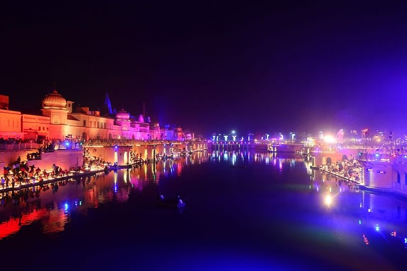 Ayodhya: Over 3 lakh diyas lit on banks of Saryu river in new world record