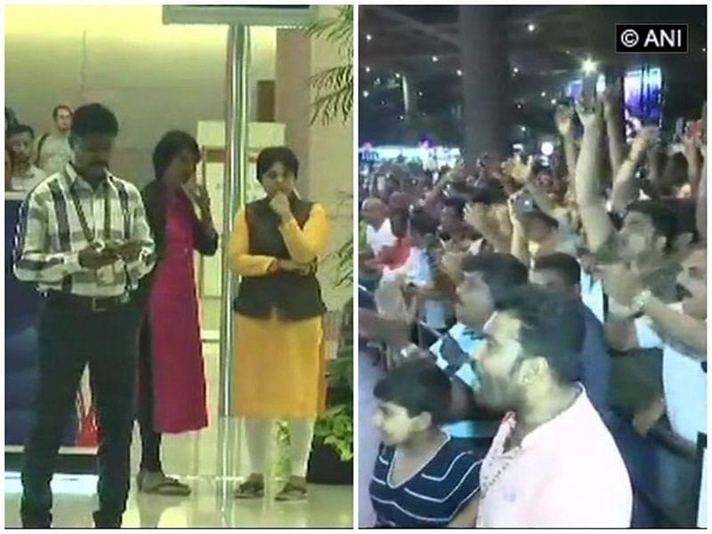 Activist Trupti Desai lands in Mumbai, protests staged at airport
