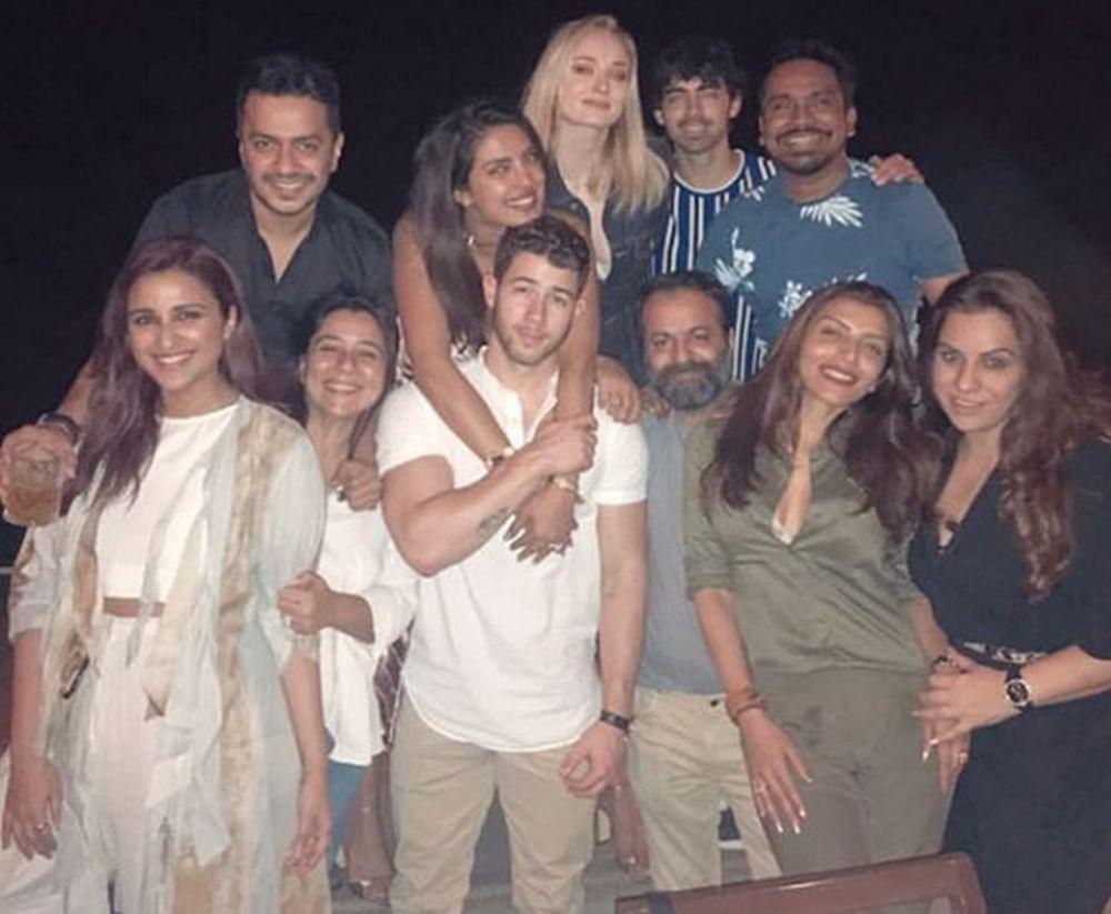 Parineeti Chopra spotted with alleged boyfriend Charit Desai at Priyanka's pre-wedding dinner