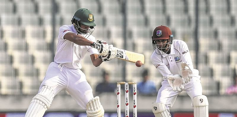 Shadman Islam, Shakib Al Hasan give Bangladesh solid start